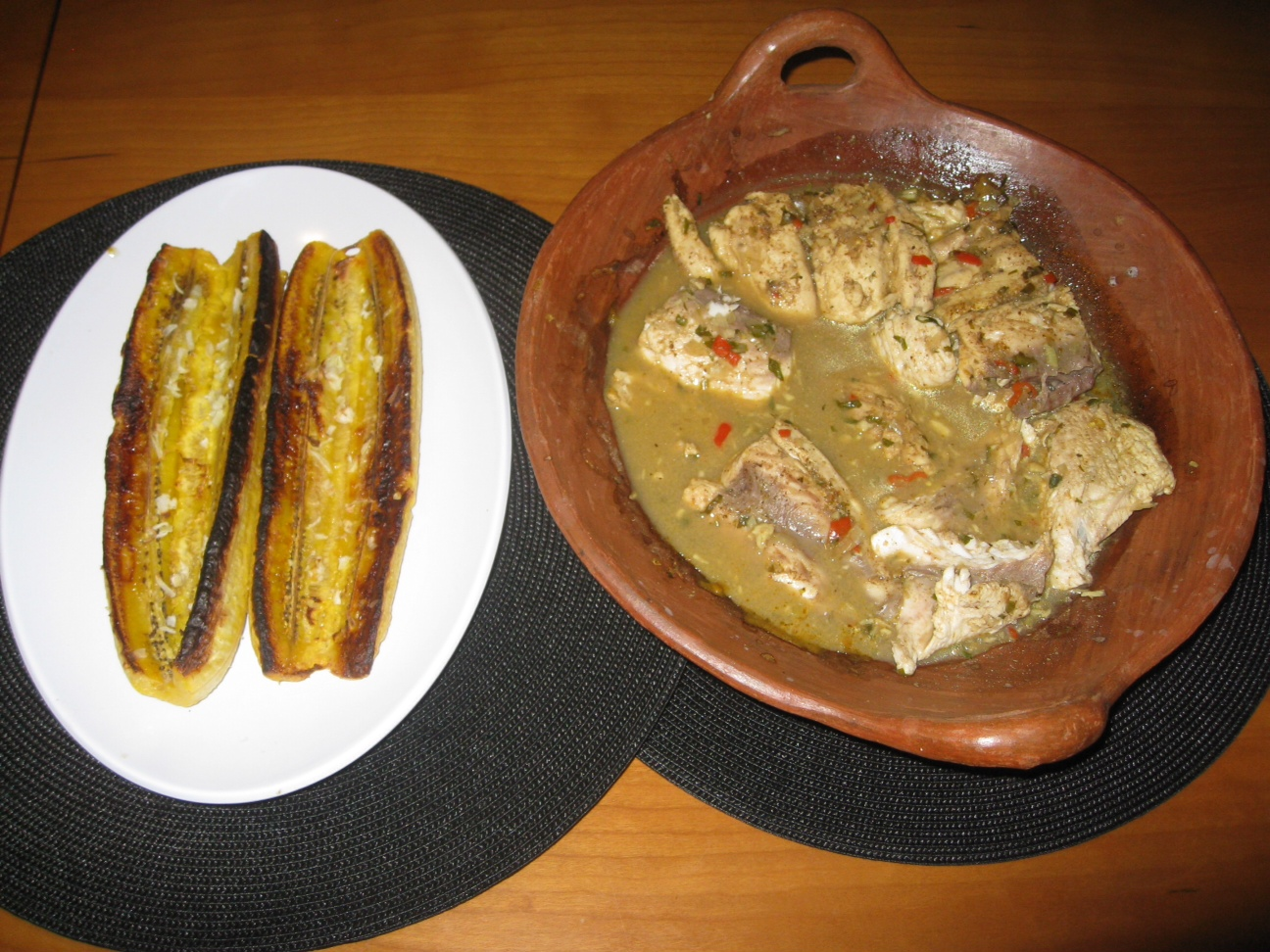 fish with grilled plantain